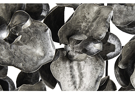 Orchid Collage Wall Art Silver/Black