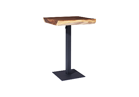 Chamcha Wood Bar Table Metal Leg