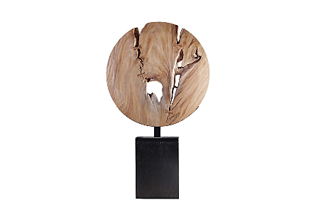 Wooden Moon Sculpture