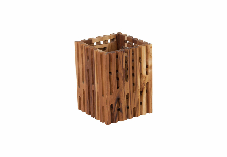 Perforated Wooden Box Square, SM