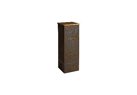 Crumpled Oil Drum Pedestal Wood Top