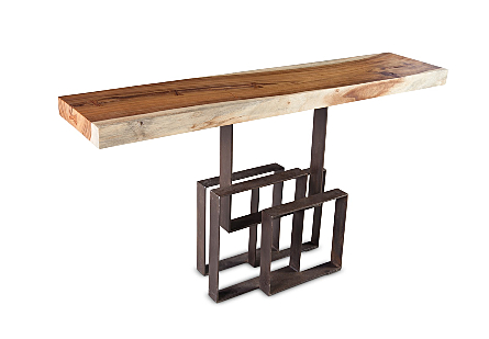 Score Console Table Chamcha Wood, Iron Base