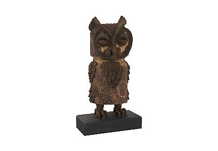 Boy Owl Carved Animal