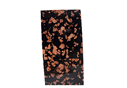 Captured Rose Gold Flake Vase Black, SM