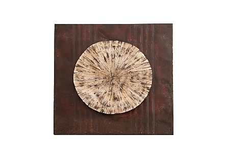 Medallion Wall Art Off White
