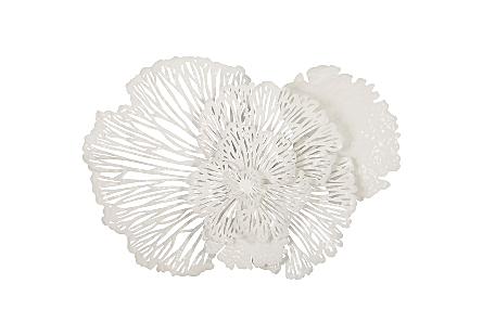 Flower Wall Art White MD