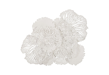 Flower Wall Art White LG