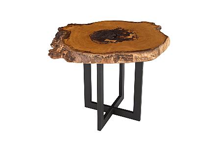 Burled Wood Side Table