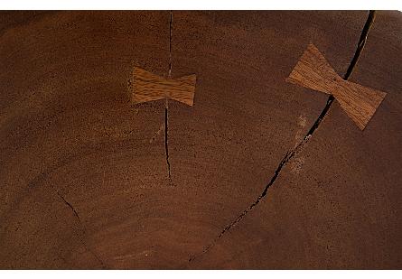 Mai Theng Burled Wood Side Table