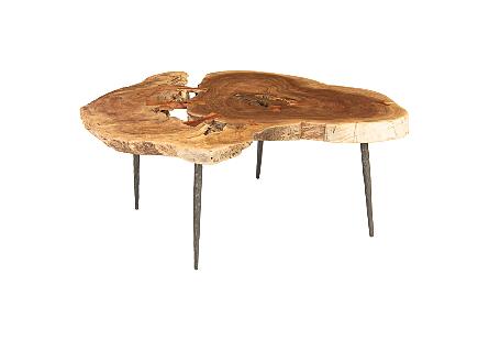 Neem Burled Wood Coffee Table