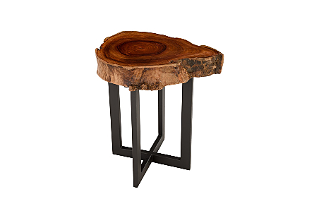 Rosewood Slice Side Table