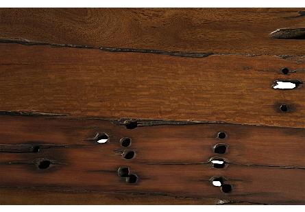 Rail Tie Coffee Table Black Metal Legs