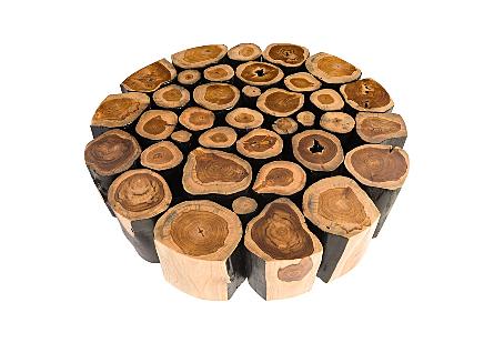 Boscage Coffee Table on Black Metal Legs Round