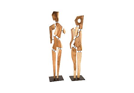 Jack Chamcha Wood Sculpture