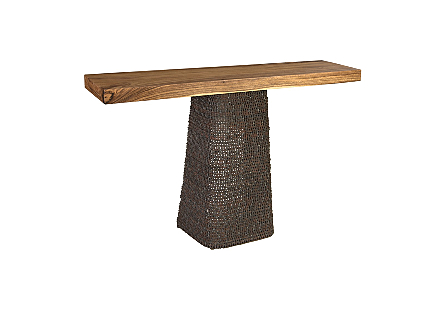 Chain Console Chamcha Wood Top, Natural