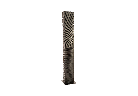 Black Wood Abstract Sculpture Assorted with Natural Characteristics