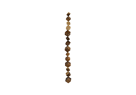 Dice Wall Art Chamcha Wood, Natural