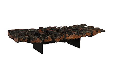 Lychee Wood CoffeeTable Iron Legs