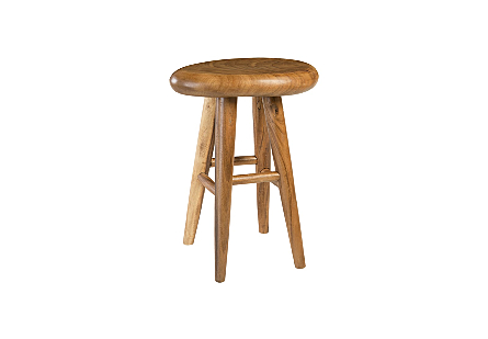 Smoothed Bar Stool Chamcha Wood, Natural, Oval