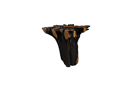 Teak Wood Bar Table Base Burnt Edge