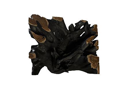 Teak Wood Bar Table Burnt Edge