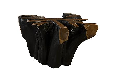 Teak Wood Dining Table Burnt Edge