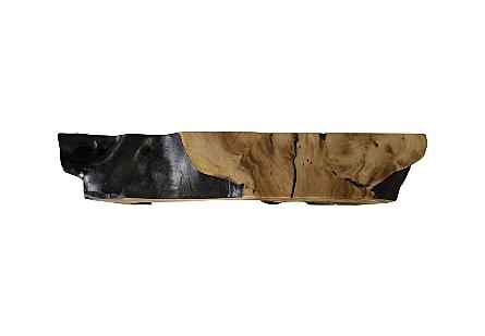 Chamcha Wood Trunk Leg Burnt Edge