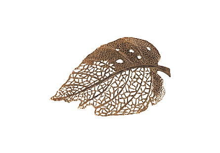 Birch Leaf Wall Art Copper, SM
