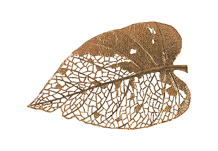 Birch Leaf Wall Art Copper, LG