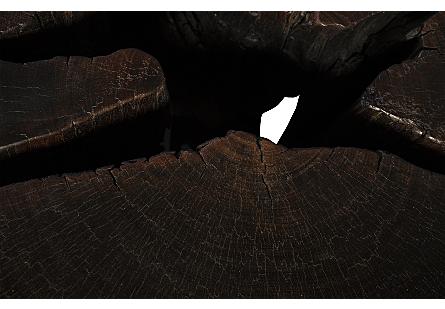 Black Wood Coffee Table Round Metal Leg
