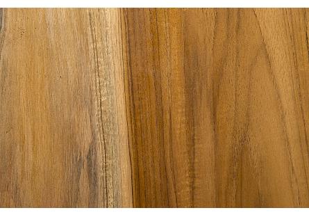 Teak Wood Console Table Iron Sheet Top