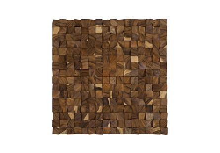 Blocks Wall Art Chamcha Wood, Natural, LG