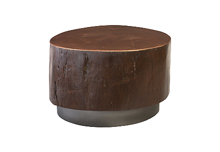Black Wood Coffee Table Copper Top