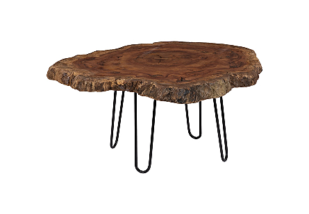 Wood Coffee Table Forged Legs