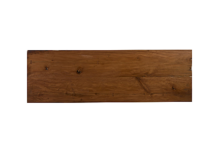 Live Edge Dining Table, Wood Brushed Stainless Steel Legs