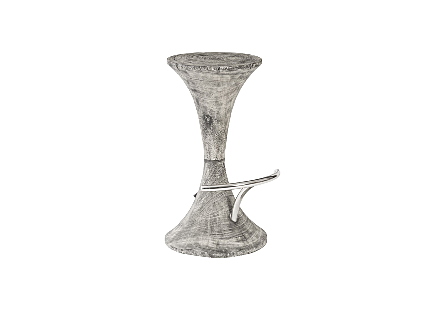 Butterfly Bar Stool Grey Stone