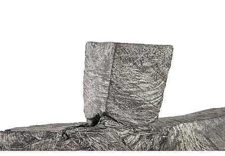 Tai Chi Sculpture on Pedestal  Grey Stone/Black