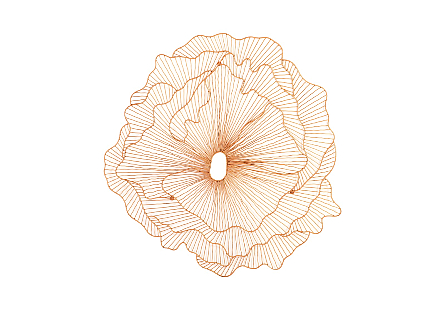 Poppy Flower Wall Art Copper, LG