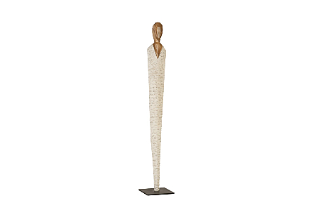 Vested Female Sculpture Natural/White Gold, LG