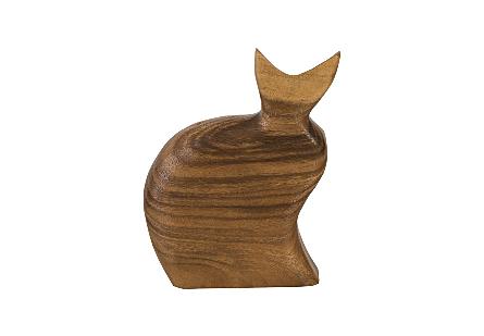 Cat Sculpture Natural