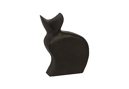 Cat Sculpture Black
