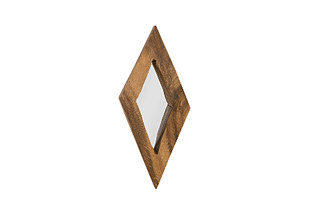 Diamond Chamcha Wood Mirror SM, Natural