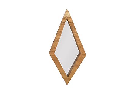 Diamond Chamcha Wood Mirror MD, Natural