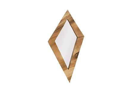 Diamond Chamcha Wood Mirror LG, Natural