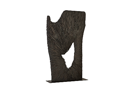 Chainsaw Sculpture on Stand, Chamcha Wood, Black
