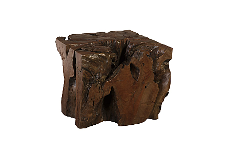 Trunk Side Table Wood
