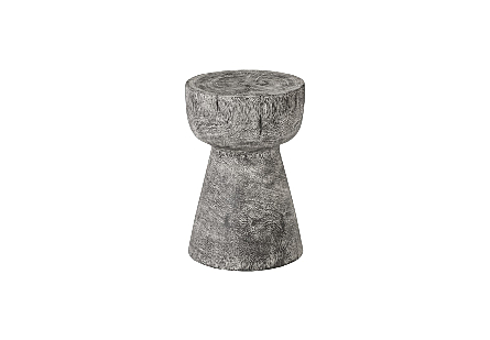 Chamcha Wood Stool Grey Stone