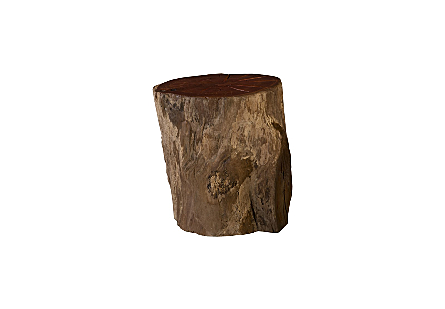 Burled Wood Stool