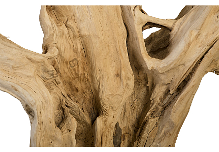 Wood Sculpture Metal Base