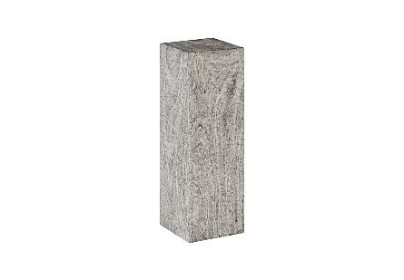 Origins Pedestal Mitered Chamcha Wood, Grey Stone, LG